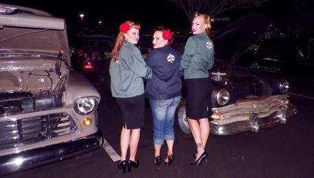 Ace, Duchess, Betty, Whittier Car Meet
